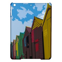 Brightly Colored Dressing Huts iPad Air Hardshell Cases