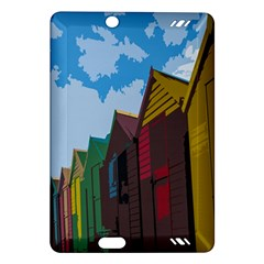 Brightly Colored Dressing Huts Amazon Kindle Fire HD (2013) Hardshell Case