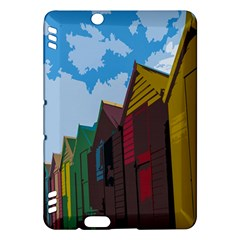 Brightly Colored Dressing Huts Kindle Fire HDX Hardshell Case