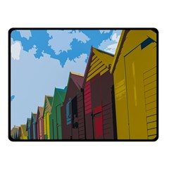 Brightly Colored Dressing Huts Double Sided Fleece Blanket (Small)