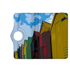 Brightly Colored Dressing Huts Kindle Fire HDX 8.9  Flip 360 Case