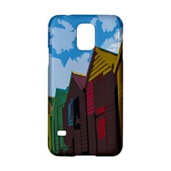 Brightly Colored Dressing Huts Samsung Galaxy S5 Hardshell Case