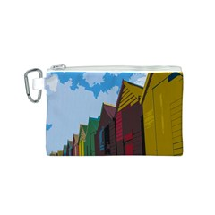 Brightly Colored Dressing Huts Canvas Cosmetic Bag (s)