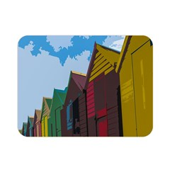 Brightly Colored Dressing Huts Double Sided Flano Blanket (Mini)