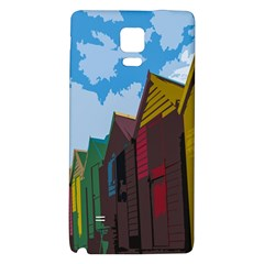 Brightly Colored Dressing Huts Galaxy Note 4 Back Case