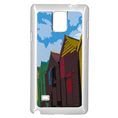 Brightly Colored Dressing Huts Samsung Galaxy Note 4 Case (White)