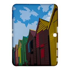 Brightly Colored Dressing Huts Samsung Galaxy Tab 4 (10.1 ) Hardshell Case