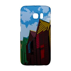 Brightly Colored Dressing Huts Galaxy S6 Edge