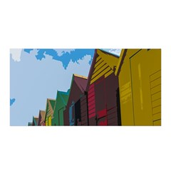 Brightly Colored Dressing Huts Satin Wrap