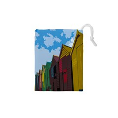 Brightly Colored Dressing Huts Drawstring Pouches (XS)