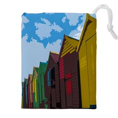 Brightly Colored Dressing Huts Drawstring Pouches (xxl)