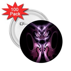 Angry Mantis Fractal In Shades Of Purple 2.25  Buttons (100 pack)