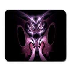 Angry Mantis Fractal In Shades Of Purple Large Mousepads