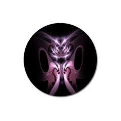 Angry Mantis Fractal In Shades Of Purple Magnet 3  (round)