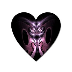 Angry Mantis Fractal In Shades Of Purple Heart Magnet