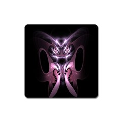 Angry Mantis Fractal In Shades Of Purple Square Magnet
