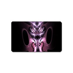 Angry Mantis Fractal In Shades Of Purple Magnet (Name Card)