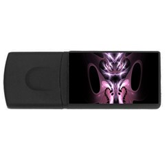 Angry Mantis Fractal In Shades Of Purple USB Flash Drive Rectangular (2 GB)