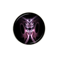 Angry Mantis Fractal In Shades Of Purple Hat Clip Ball Marker