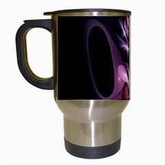 Angry Mantis Fractal In Shades Of Purple Travel Mugs (white)