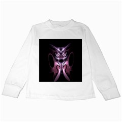 Angry Mantis Fractal In Shades Of Purple Kids Long Sleeve T-Shirts