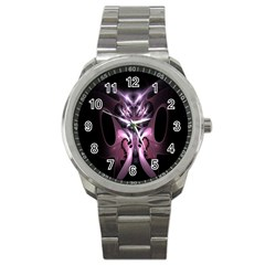 Angry Mantis Fractal In Shades Of Purple Sport Metal Watch