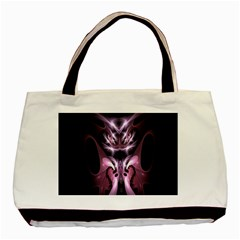 Angry Mantis Fractal In Shades Of Purple Basic Tote Bag
