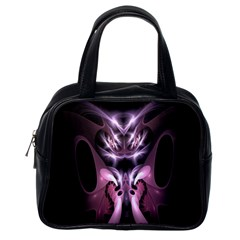 Angry Mantis Fractal In Shades Of Purple Classic Handbags (One Side)