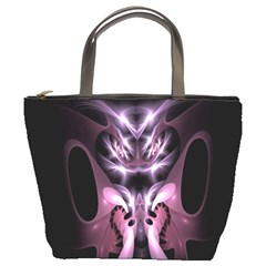 Angry Mantis Fractal In Shades Of Purple Bucket Bags