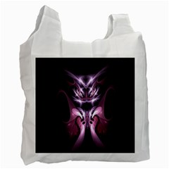 Angry Mantis Fractal In Shades Of Purple Recycle Bag (One Side)