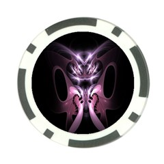Angry Mantis Fractal In Shades Of Purple Poker Chip Card Guard (10 pack)
