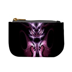Angry Mantis Fractal In Shades Of Purple Mini Coin Purses