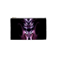 Angry Mantis Fractal In Shades Of Purple Cosmetic Bag (Small)
