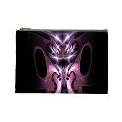 Angry Mantis Fractal In Shades Of Purple Cosmetic Bag (Large)