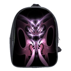 Angry Mantis Fractal In Shades Of Purple School Bags(Large)