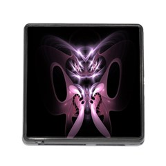 Angry Mantis Fractal In Shades Of Purple Memory Card Reader (Square)