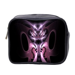 Angry Mantis Fractal In Shades Of Purple Mini Toiletries Bag 2-Side