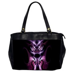 Angry Mantis Fractal In Shades Of Purple Office Handbags