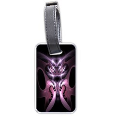 Angry Mantis Fractal In Shades Of Purple Luggage Tags (One Side)