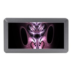 Angry Mantis Fractal In Shades Of Purple Memory Card Reader (mini)