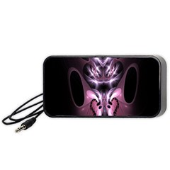 Angry Mantis Fractal In Shades Of Purple Portable Speaker (Black)