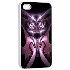 Angry Mantis Fractal In Shades Of Purple Apple Iphone 4/4s Seamless Case (white)