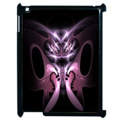 Angry Mantis Fractal In Shades Of Purple Apple iPad 2 Case (Black)