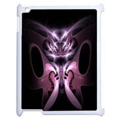 Angry Mantis Fractal In Shades Of Purple Apple iPad 2 Case (White)