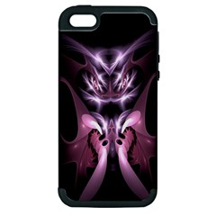 Angry Mantis Fractal In Shades Of Purple Apple Iphone 5 Hardshell Case (pc+silicone)