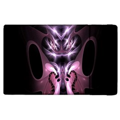 Angry Mantis Fractal In Shades Of Purple Apple iPad 2 Flip Case