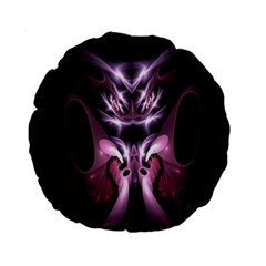 Angry Mantis Fractal In Shades Of Purple Standard 15  Premium Round Cushions