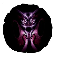 Angry Mantis Fractal In Shades Of Purple Large 18  Premium Round Cushions