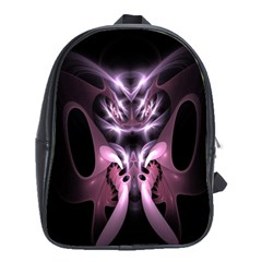 Angry Mantis Fractal In Shades Of Purple School Bags (xl)