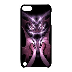 Angry Mantis Fractal In Shades Of Purple Apple iPod Touch 5 Hardshell Case with Stand